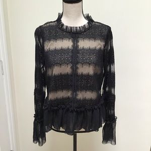 Foxiedox | NWT Black Lace Blouse
